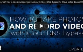 How to take pictures and record video with iCloud DNS Bypass
